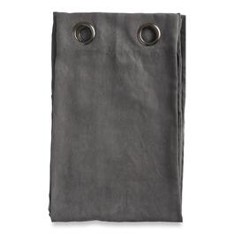 HomeStyles Charcoal Faux Suede Curtain Panel - 63in.