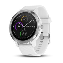 Garmin vívoactive 3 Watch GPS - Steel with White Silicone