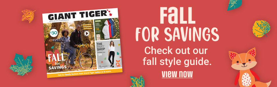 Fall for savings. Check out our fall style guide.