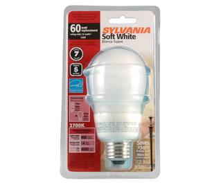 Thumbnail of the 1 PACK 14W(=60W) SOFT WHITE SPECIALTY CFL BULB
